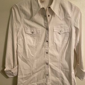True religion crystal button up